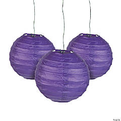 Mini Purple Hanging Paper Lanterns
