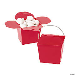 Mini Red Takeout Boxes