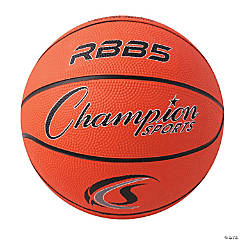 Mini Rubber Basketball, Orange, Set of 3