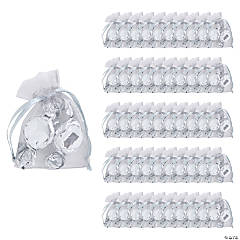 Mini Silver Organza Drawstring Treat Bags