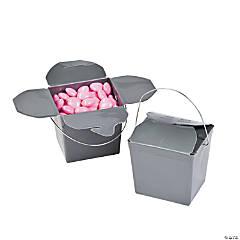 Mini Silver Takeout Boxes