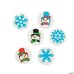 Mini Snowman & Snowflake Erasers