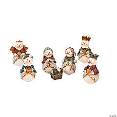 Mini Snowman Nativity Set