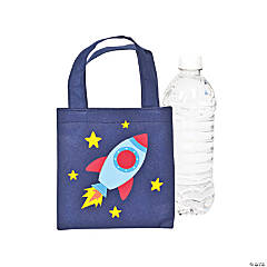 Mini Spaceship Tote Bags