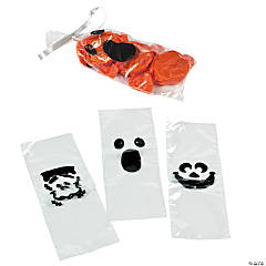 Mini Spooky Face Cellophane Bags