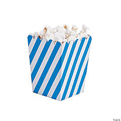 Mini Striped Blue & White Popcorn Boxes