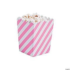 Mini Striped Candy Pink & White Popcorn Boxes