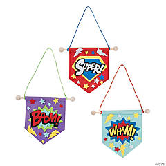 Mini Superhero Banner Craft Kit