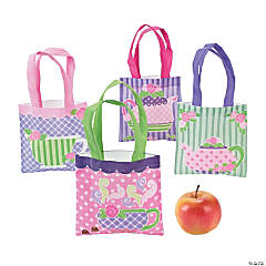 Mini Tea Party Tote Bags