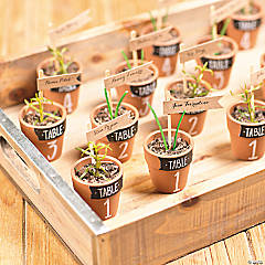 Mini Terra Cotta Pots Seating Arrangment Favor Idea