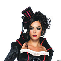 Mini Top Hat Red/Black