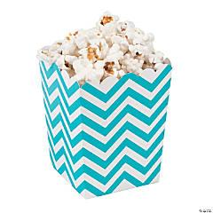Mini Turquoise Chevron Popcorn Boxes
