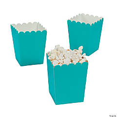 Mini Turquoise Popcorn Box