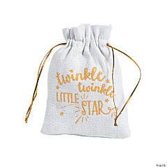 Mini Twinkle Twinkle Canvas Drawstring Bags