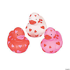 Mini Valentine Rubber Duckies