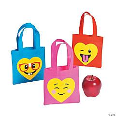 Mini Valentine's Day Emoji Tote Bags