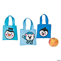 Mini Winter Googly Eye Totes
