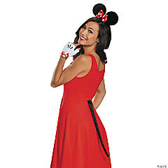 Minnie Mouse Ears Gloves & Tail Kit for Adults