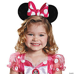 Minnie Mouse Pink Lite Up Child Ears for Girls