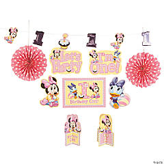 Minnie Mouse 1st Birthday Room Decorating Kit