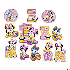 Minnie's 1st Birthday Cutouts Pack