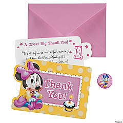 Minnie's 1st Birthday Thank You Cards