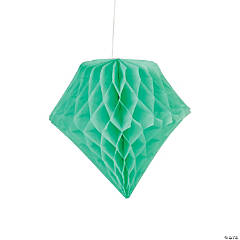 Mint Diamond Tissue Paper Hanging Decorations