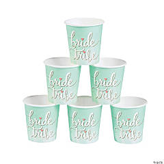 Mint Green Bride Tribe Paper Shot Cups