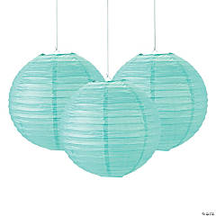 Mint Green Paper Lanterns - 12
