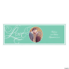Mint Green Wedding Large Custom Photo Banner