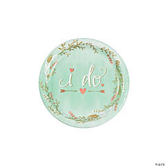Mint I Do Paper Dessert Plates