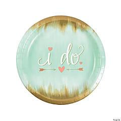 Mint I Do Paper Dinner Plates