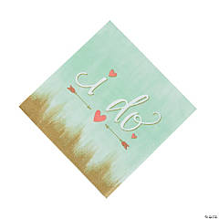 Mint I Do Paper Luncheon Napkins