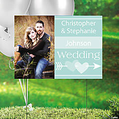 Mint Wedding Custom Photo Yard Sign