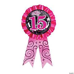 Mis Quince Años Confetti Award Ribbon