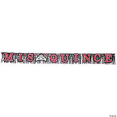 Mis Quince Años Fringed Foil Banner