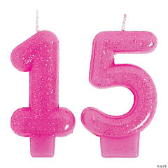 Mis Quince Años Number 15 Birthday Candle