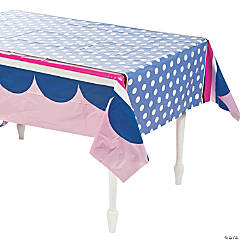 Miss Sock Monkey Plastic Tablecloth