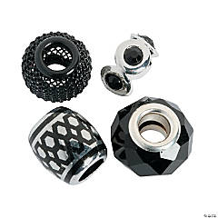 Mix & Match Black Large Hole Beads