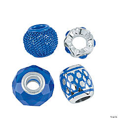 Mix & Match Blue Large Hole Beads