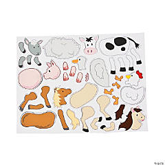 Mix & Match Magnetic Farm Animal Sheet