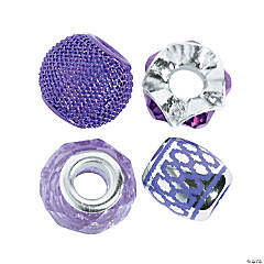 Mix & Match Purple Large Hole Beads - 7mm-10mm