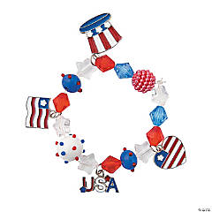 Mixed Media Patriotic Bracelet Craft Kit