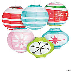 Mod & Merry Ornament Hanging Paper Lanterns