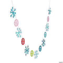Mod & Merry Snowflake Garland