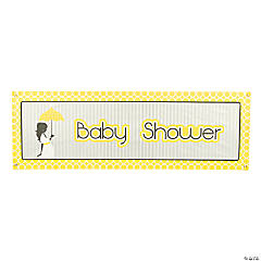 Mod Baby Shower Giant Banner