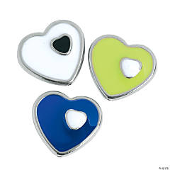 Mod Heart Beads - 23mm
