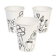 Mod Poppies Cups