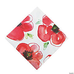 Mod Poppies Luncheon Napkins