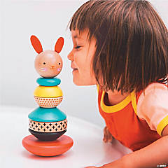Modern Bunny Wood Stacking Toy
